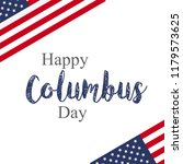 happy columbus day. the trend... | Shutterstock .eps vector #1179573625