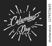happy columbus day. the trend... | Shutterstock .eps vector #1179573655
