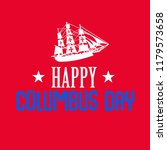 happy columbus day. the trend... | Shutterstock .eps vector #1179573658