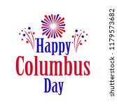 happy columbus day. the trend... | Shutterstock .eps vector #1179573682