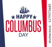happy columbus day. the trend... | Shutterstock .eps vector #1179573685