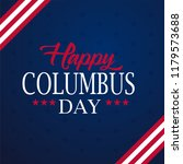 happy columbus day. the trend... | Shutterstock .eps vector #1179573688