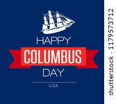 happy columbus day. the trend... | Shutterstock .eps vector #1179573712