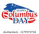happy columbus day. the trend... | Shutterstock .eps vector #1179573718