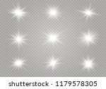 white glowing light explodes on ... | Shutterstock .eps vector #1179578305