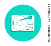 vinyl record player icon in...