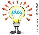 illustration of mascot lamp...   Shutterstock .eps vector #1179588745