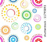 Colorful seamless circles pattern on white background - stock vector