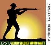silhouette of allied soldier of ...   Shutterstock .eps vector #1179594262