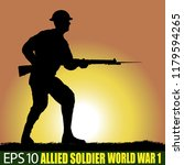 silhouette of allied soldier of ...   Shutterstock .eps vector #1179594265