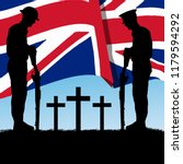 silhouette of a british  ... | Shutterstock .eps vector #1179594292