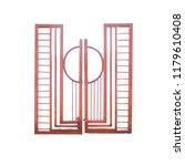 steel rusty iron gate single... | Shutterstock . vector #1179610408
