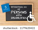 international day of persons... | Shutterstock . vector #1179620422
