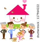family home | Shutterstock . vector #117964222