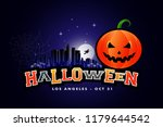 halloween party background los... | Shutterstock .eps vector #1179644542