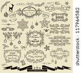 set of christmas design elements | Shutterstock .eps vector #117964582