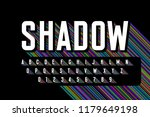 long colorful shadow font ... | Shutterstock .eps vector #1179649198