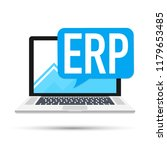 erp software  enterprise... | Shutterstock .eps vector #1179653485