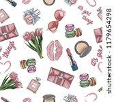 seamless pattern of female... | Shutterstock .eps vector #1179654298