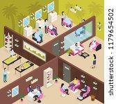 beauty center with massage...   Shutterstock .eps vector #1179654502