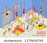 children sport complex... | Shutterstock .eps vector #1179654745