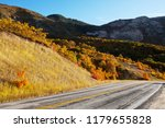 colorful autumn scene on... | Shutterstock . vector #1179655828