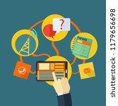 business technology flat design   Shutterstock .eps vector #1179656698
