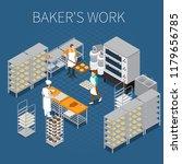 bakery bread production... | Shutterstock .eps vector #1179656785