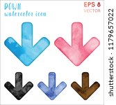 down watercolor icon set.... | Shutterstock .eps vector #1179657022
