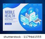 mobile health care telemedicine ... | Shutterstock .eps vector #1179661555