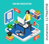 online education with various... | Shutterstock .eps vector #1179665938