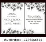 invitation with floral... | Shutterstock . vector #1179666598