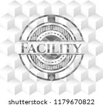 facility grey badge with... | Shutterstock .eps vector #1179670822