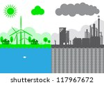 think green  ecology concept | Shutterstock .eps vector #117967672