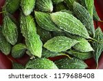 bitter gourd background   green ... | Shutterstock . vector #1179688408