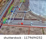 aerial view of the pipelines of ... | Shutterstock . vector #1179694252