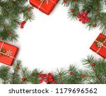 christmas gift boxes decorated... | Shutterstock . vector #1179696562