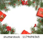 christmas gift boxes decorated... | Shutterstock . vector #1179696565