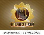 gold badge or emblem with... | Shutterstock .eps vector #1179696928