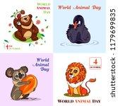 World Animal Day October Plane...