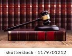 judge gavel and soundboard on... | Shutterstock . vector #1179701212