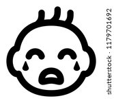 baby cry face line icon vector   Shutterstock .eps vector #1179701692