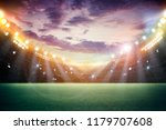 stadium in lights and flashes... | Shutterstock . vector #1179707608