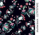 seamless pattern with vintage...   Shutterstock .eps vector #1179707692