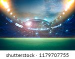 stadium in lights and flashes... | Shutterstock . vector #1179707755