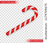 christmas cane  christmas candy ... | Shutterstock .eps vector #1179709675