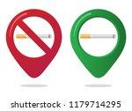 no smoking and smoking area... | Shutterstock .eps vector #1179714295