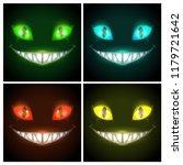 halloween creepy posters set....   Shutterstock .eps vector #1179721642