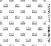 snow crown pattern seamless... | Shutterstock . vector #1179723082