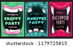 creepy halloween party... | Shutterstock .eps vector #1179725815